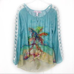 Leoma Lovegrove Tropical Print Tie Front